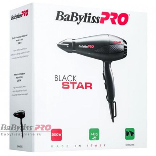 Профессиональный фен BaByliss Pro Black Star BAB6200E 2000W