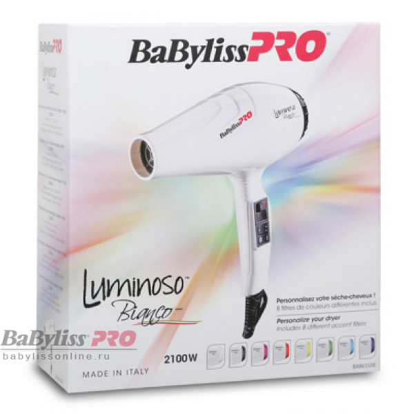 Профессиональный фен BaByliss Pro Bianco Ionic BAB6360IE 2100W