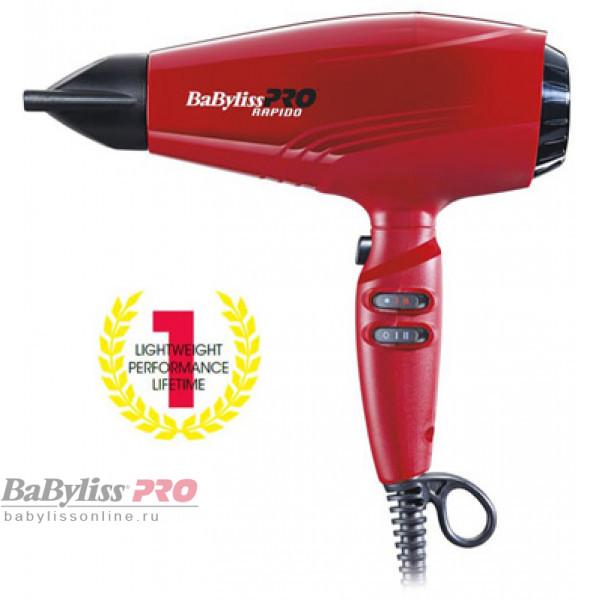Профессиональный фен BaByliss PRO Rapido Red Ferrari с набором аксессуаров P1035E / BAB7000IRE 2200W