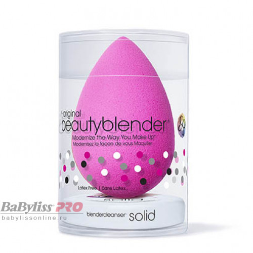 Набор спонж beautyblender original и мини мыло solid blendercleanser beautyblender 1035