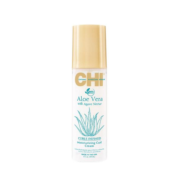 Крем для укладки увлажняющий для вьющихся волос Chi Aloe Vera with Agava Nectar Moisturizing Curl Cream 147 мл CHIAVMC5