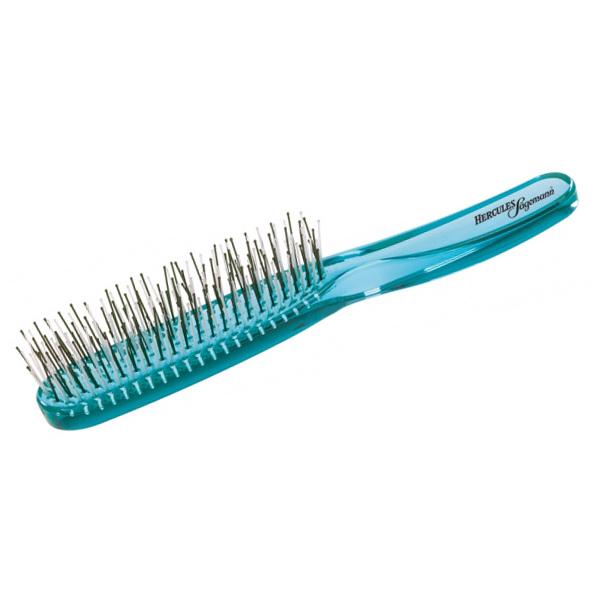 Щетка массажная для волос Hercules Мурашка бирюзовая 8210