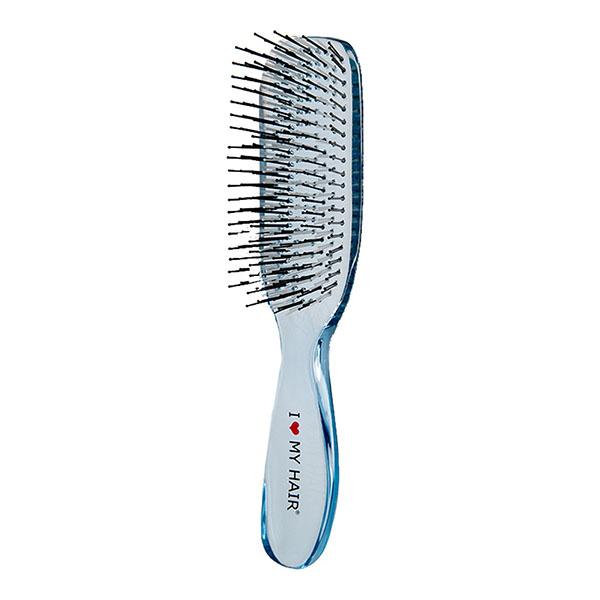Щетка для волос I Love My Hair Русалочка 1801 синяя прозрачная M 0409-1801-02
