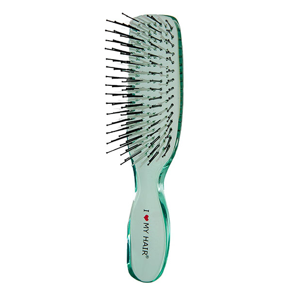 Щетка для волос I Love My Hair Русалочка 1801 зеленая прозрачная M 0409-1801-10