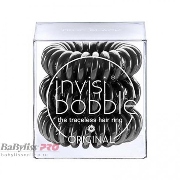 Резинка-браслет для волос invisibobble Original True Black Черный 3 шт 3040