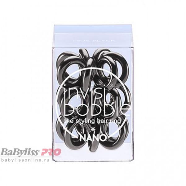 Резинка для волос invisibobble Nano True Black Черный 3 шт 3048