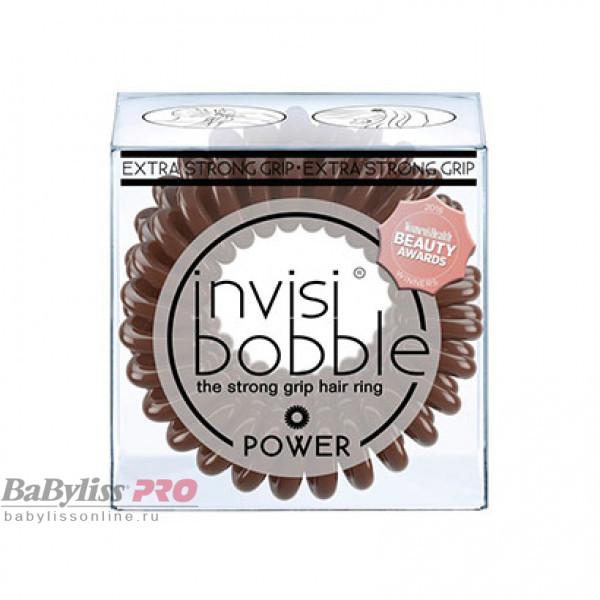 Резинка-браслет для волос invisibobble Power Pretzel Brown Коричневый 3 шт 3068