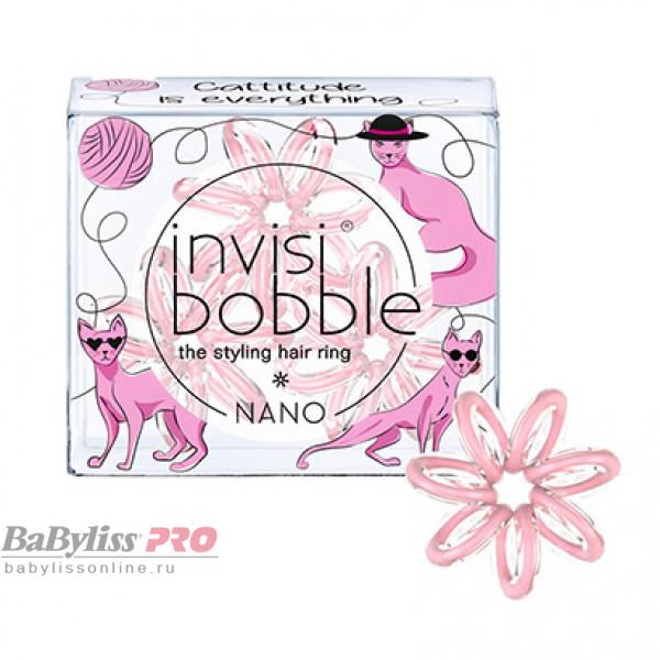 Резинка для волос invisibobble Nano Cattitude Is Everything Пудровый 3 шт 3079