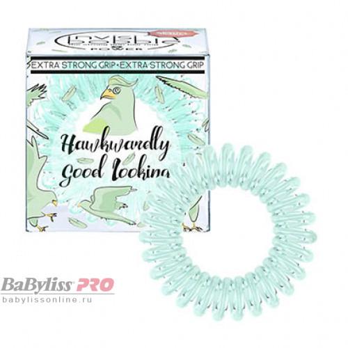 Резинка-браслет для волос invisibobble Power Hawkwardly Good Looking Серо-зеленый 3 шт 3080
