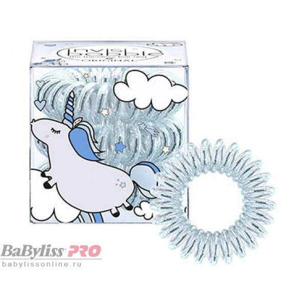 Резинка-браслет для волос invisibobble Original Unicorn Henry Голубой Металлик 3 шт 3083