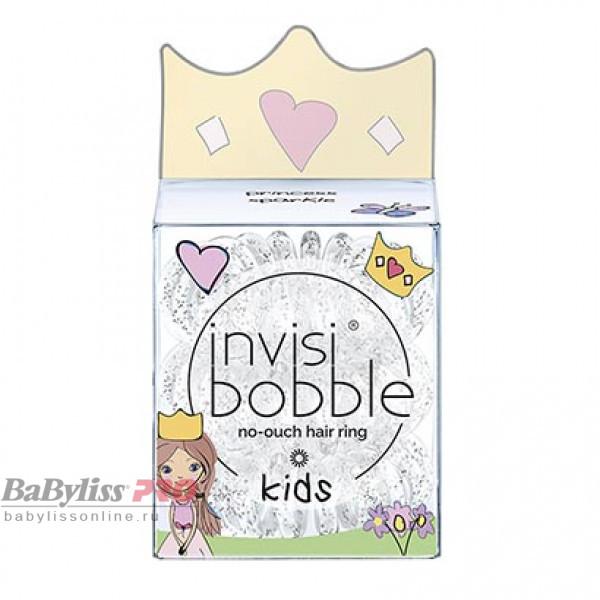 Резинка для волос детская invisibobble Kids princess sparkle Прозрачная с блестками 3 шт 3092
