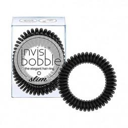 Резинка-браслет для волос invisibobble Slim True Black Черный 3 шт 3094