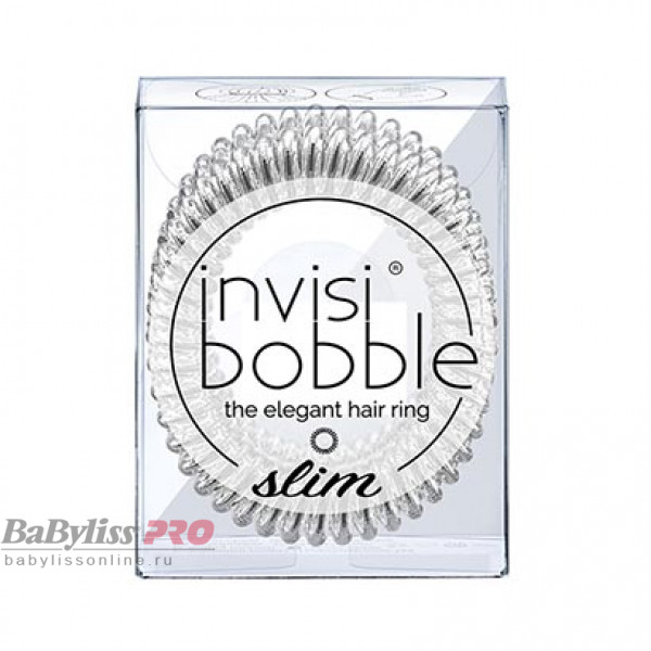 Резинка-браслет для волос invisibobble Slim Chrome Sweet Chrome Мерцающий Серебряный 3 шт 3096