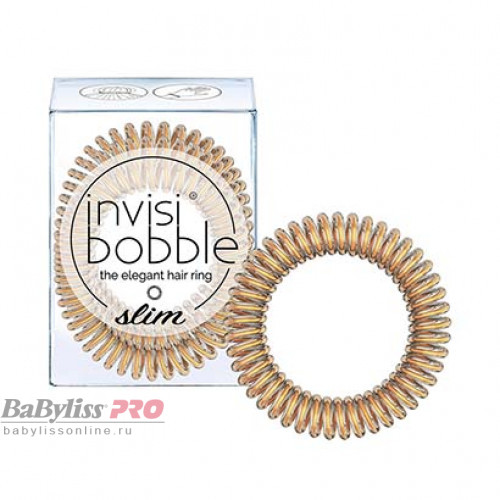 Резинка-браслет для волос invisibobble Slim Bronze Me Pretty Мерцающий Бронзовый 3 шт 3097