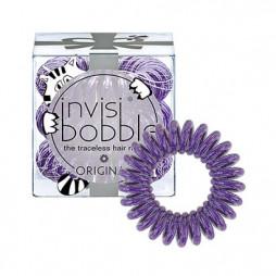 Резинка-браслет для волос invisibobble Original Meow & Ciao Мерцающий Фиолетовый 3 шт 3104 / 3215