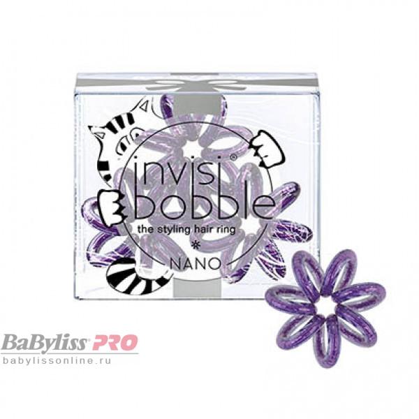 Резинка для волос invisibobble Nano Meow & Ciao Мерцающий Фиолетовый 3 шт 3108