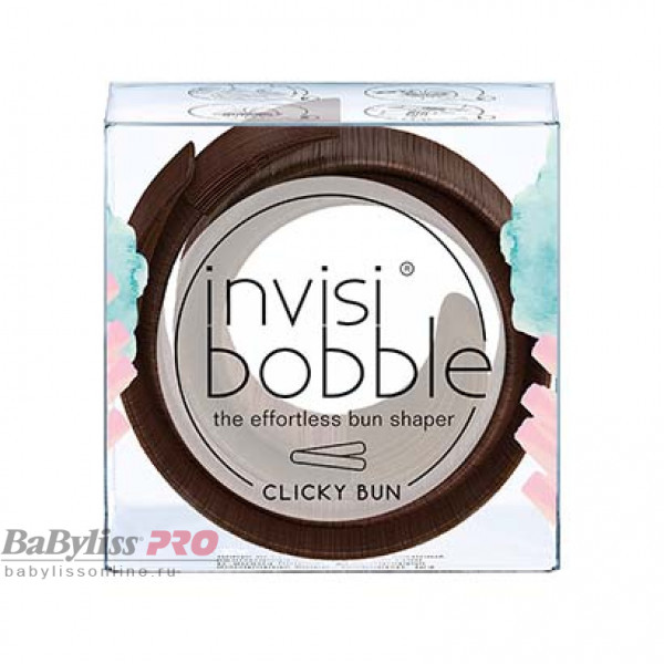 Заколка для волос invisibobble Clicky Bun Pretzel Brown Коричневый 3137