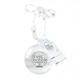 Резинка-браслет для волос в подарочной упаковке invisibobble Slim Bauble Серебряный 3 шт 3149