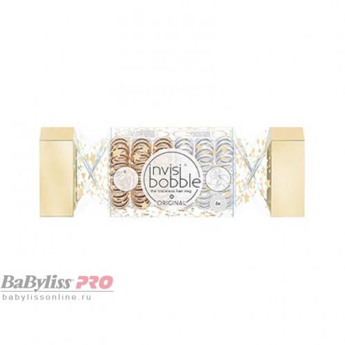 Подарочный набор резинок invisibobble Original The Wonderfuls Duo Cracker Бронзовый/Серебряный 6 шт 3150