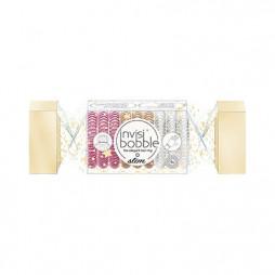 Подарочный набор резинок invisibobble Slim The Wonderfuls Trio Cracker Розовый/Бронзовый/Прозрачный 9 шт 3151