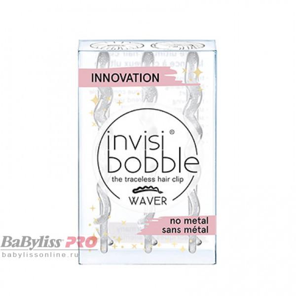 Заколка для волос invisibobble Waver Sparks Flying Прозрачный с блестками 3 шт 3173