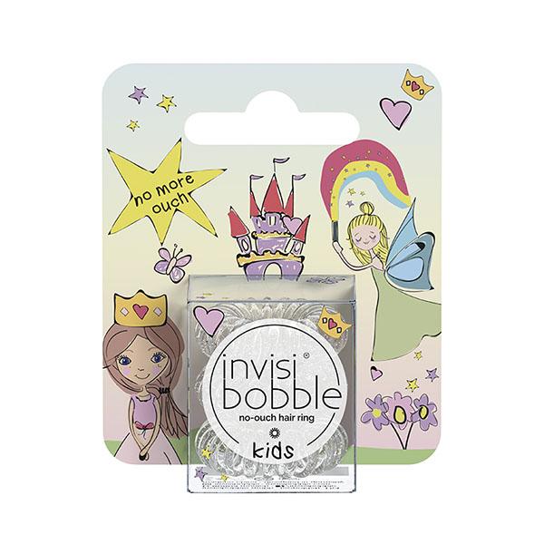 Резинка для волос детская invisibobble Kids princess sparkle Прозрачная с блестками 3 шт 3180