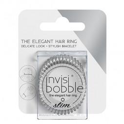 Резинка-браслет для волос invisibobble Slim Chrome Sweet Chrome Мерцающий Серебряный 3 шт 3184