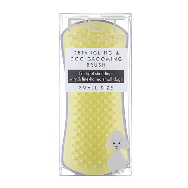 Расческа для вычесывания шерсти малая Pet Teezer Small DeShedding & Dog Grooming Brush Lilac & Butter Лиловый/желтый ROW-SDT-LY-010319
