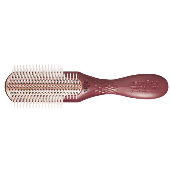 Щетка для волос Olivia Garden Heat Pro Ceramic+Ion BR-HP1PC-ST9RW 9 рядов коричневая