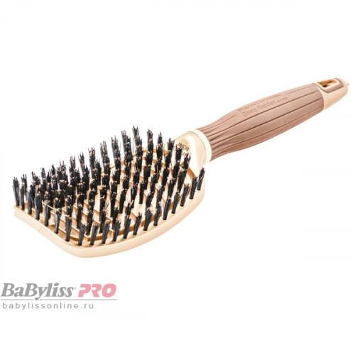 Щетка для волос Olivia Garden Ceramic+Ion Nano Thermic Flex Boar BR-NT1PC-FLBOA коричневая