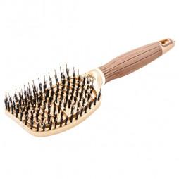 Щетка для волос Olivia Garden Ceramic+Ion Nano Thermic Flex Combo BR-NT1PC-FLCOM коричневая