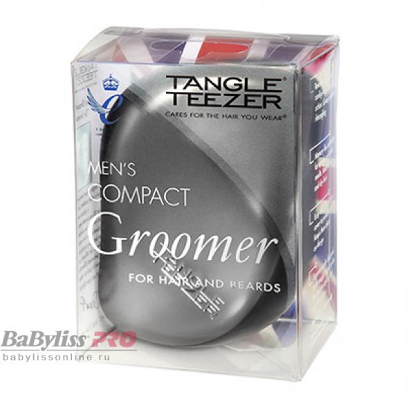 Расческа Tangle Teezer Men's Compact Groomer Черный/Стальной 2049