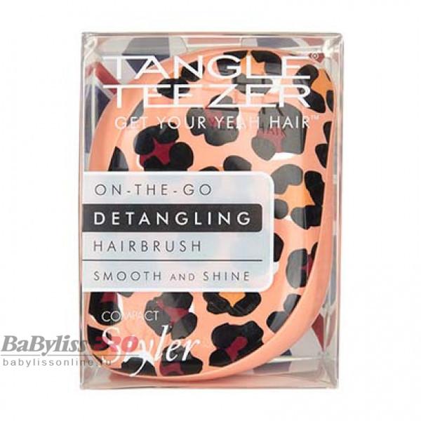 Расческа Tangle Teezer Compact Styler Apricot Leopard Персиковый 2165