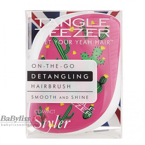 Расческа Tangle Teezer Compact Styler Cacti Cool Розовый/Зеленый 2179