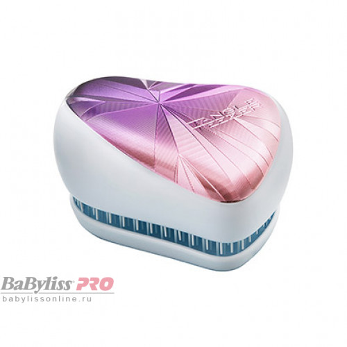 Расческа Tangle Teezer Compact Styler Smashed Holo Blue Сиреневый/Белый 2201