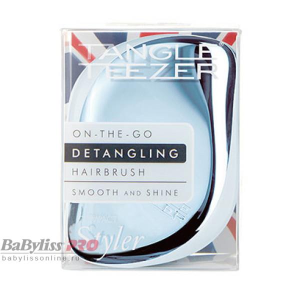 Расческа Tangle Teezer Compact Styler Sky Blue Delight Chrome Синий металлик/голубой 2215