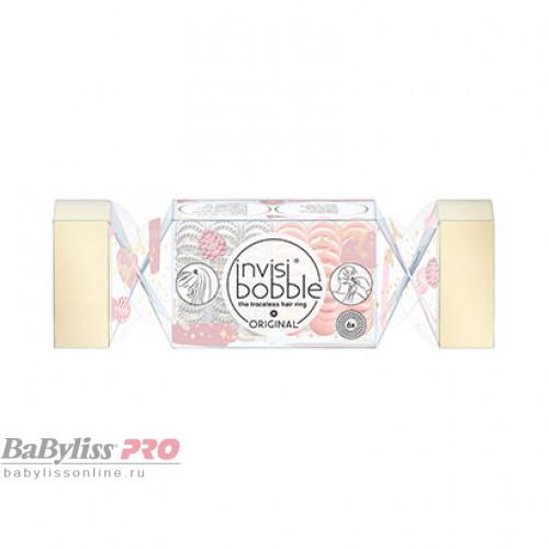 Подарочный набор резинок invisibobble Original Duo Cracker Better Than Lametta Розовый/Серебряный 6 шт 3172