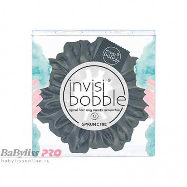 Резинка-браслет для волос invisibobble Sprunchie Holy Cow That's Not Leather Черный 3177